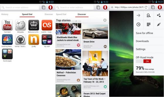 Nowa Opera dla Androida z silnikiem Webkit