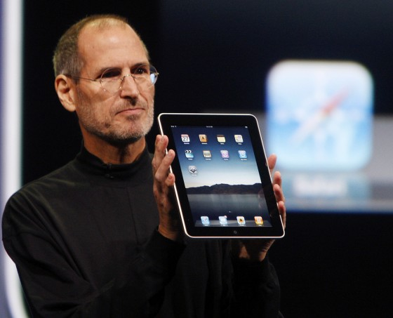 Steve Jobs i iPad 1. gen.
