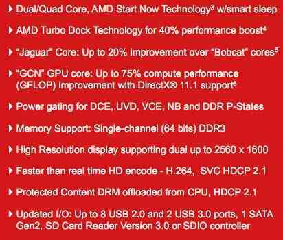 AMD Temash Jaguar