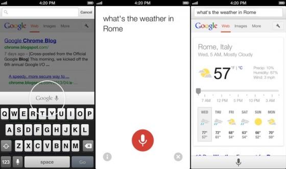 Wyszukiwanie głosowe w Chrome dla iOS