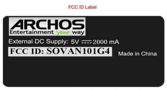 Archos Arnova 101 G4 w FCC