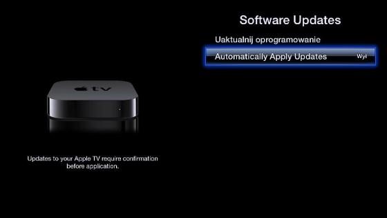 Automatyczne aktualizacje w Apple TV