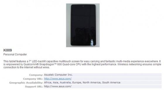 Nowy nexus 7 na stronie Bluetooth SIG