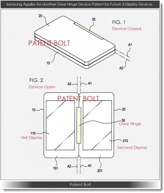 Samsung - zawias dla dwóch ekranów