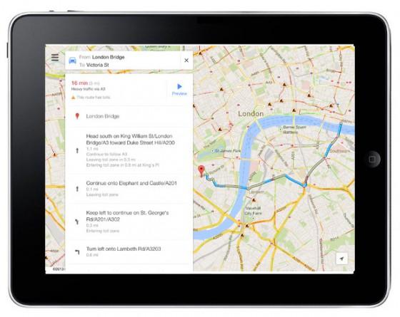 Google Maps na iPada