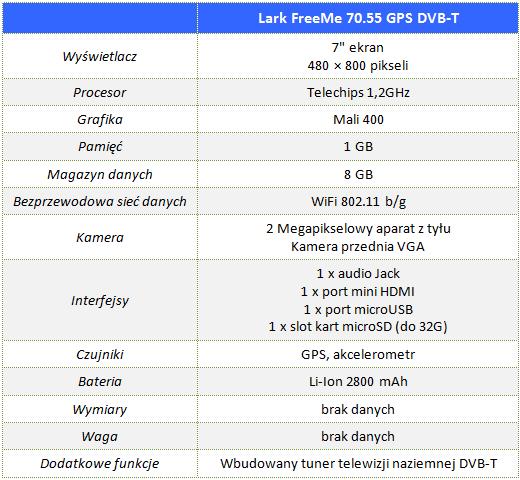 Lark_FreeMe_70.55_GPS_DVB-T_00_Specyfikacja