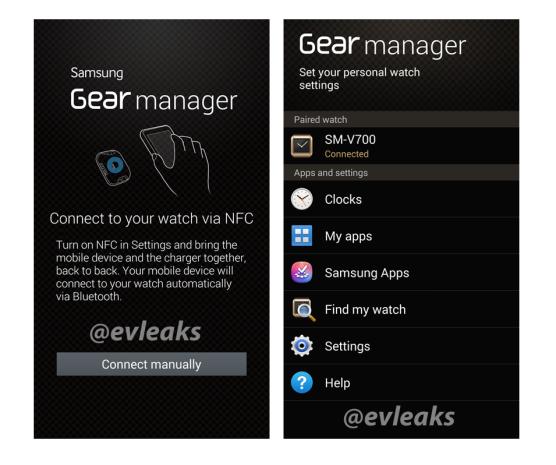 Galaxy Gear Manager App