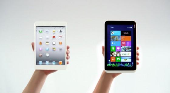 iPad mini vs Iconia W3