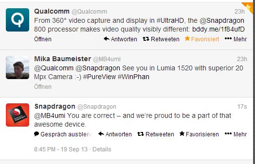 Qualcomm potwierdza Snapdragon 800 w Lumii 1520