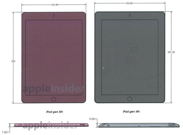 iPad 4 i 5 - wymiary