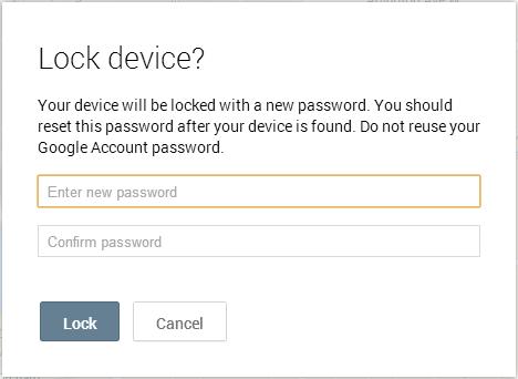 Zdalne blokowanie w Android Device Manager