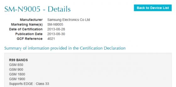 SM-N9005 GFC