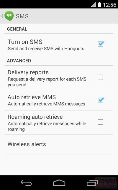 Google Hangout SMS MMS 01