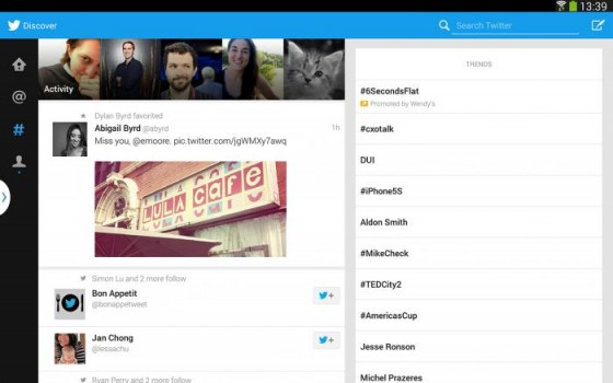 Twitter na tablety z Androidem