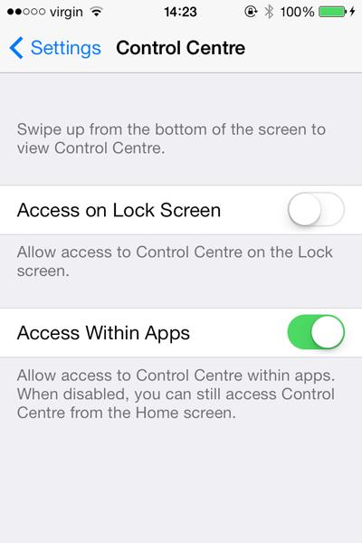 ustawienia ekranu blokady iOS