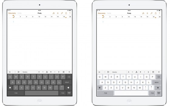 iOS 7.1 beta - klawiatura