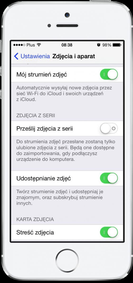 iOS 7.1 beta - ustawienia