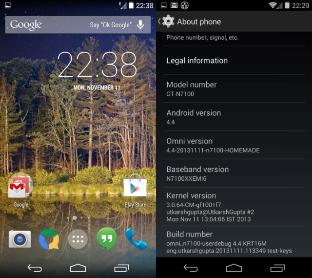 Android KitKat dla Galaxy Note 2