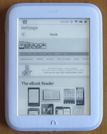 czytnik e-book Barnes&Noble Nook GlowLight