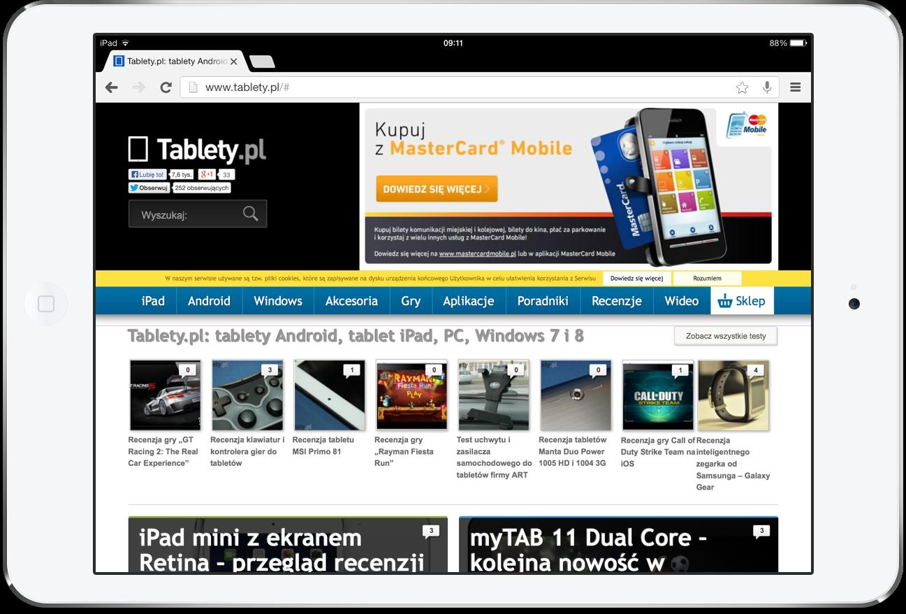 Chrome 31 na iPada
