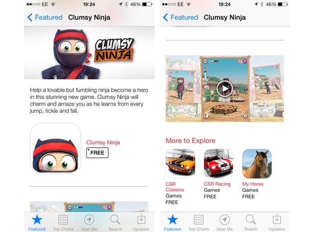App Store wideo trailer