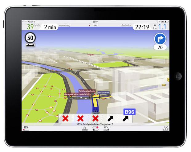 AutoMapa Polska na iOS 7
