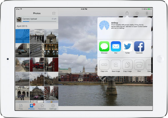 Dropbox na iOS 7