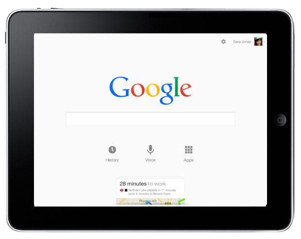 Google Search na iOS