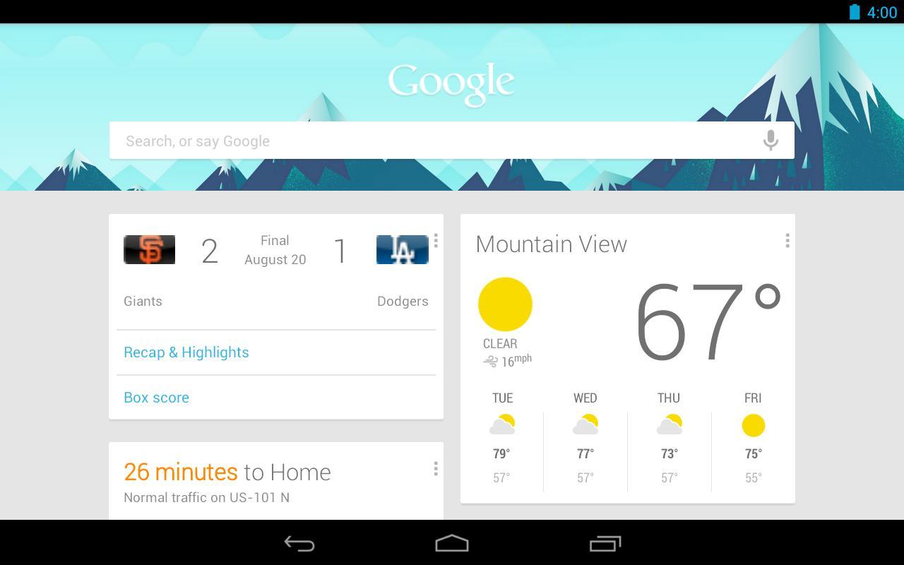Aplikacja Google Search