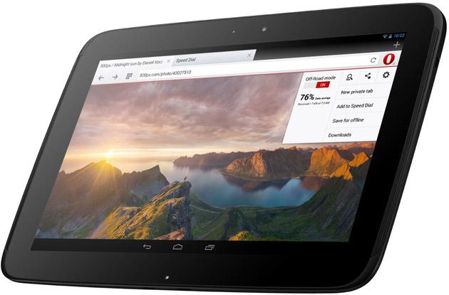 Opera 18 na tablety