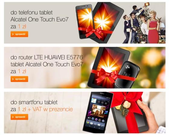 Promocja na tablety w Orange