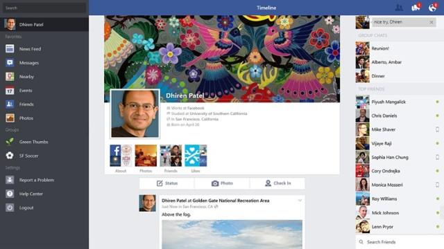 Aplikacja Facebook na Windows 8.1