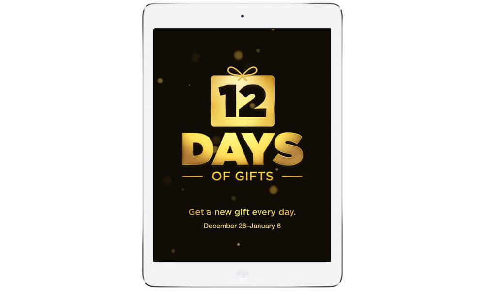 Aplikacja 12 Days of Gifts