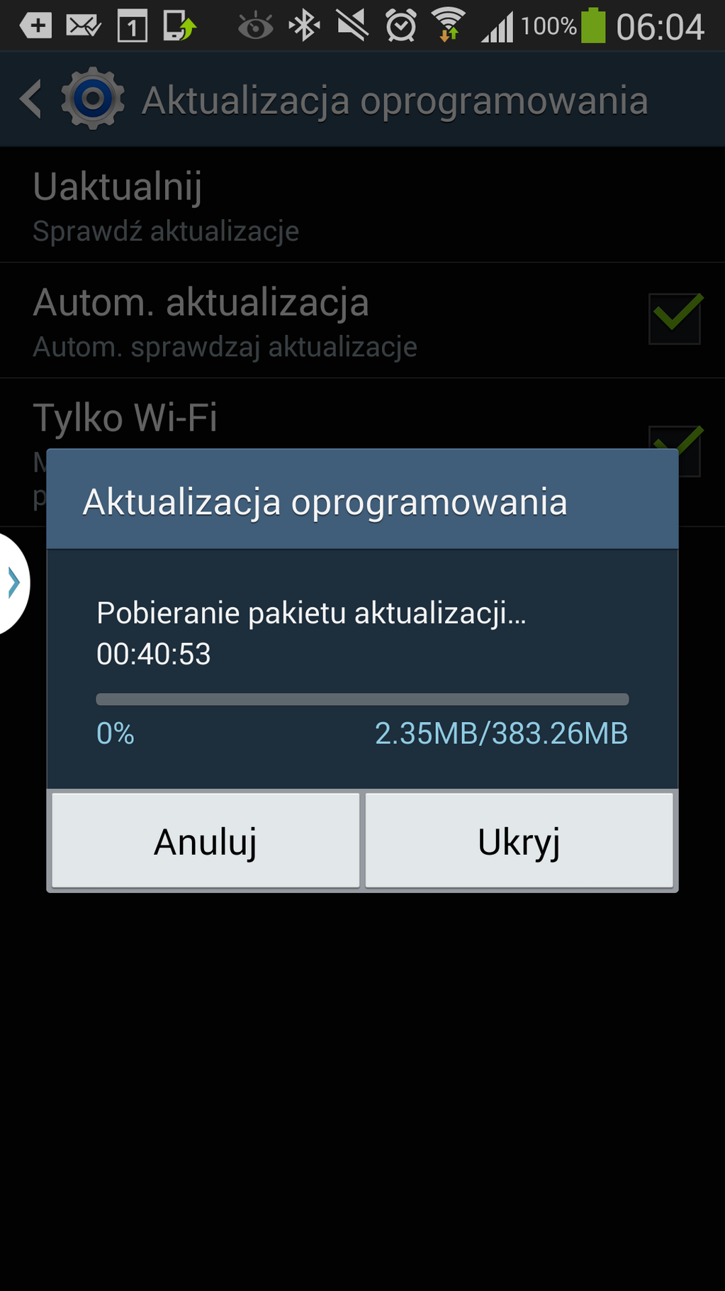 Android 4.4.2 dla Galaxy Note 3