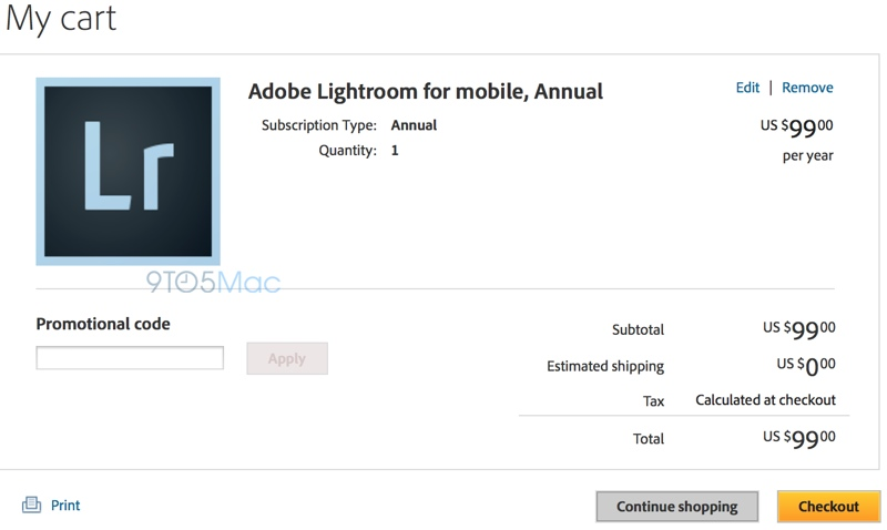 Adobe Lightroom na iPada