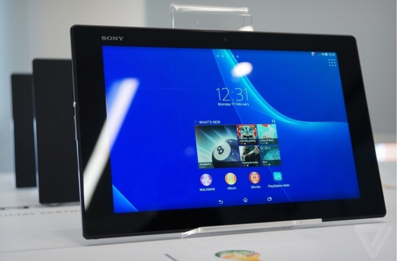 Sony Xperia Z2 Tablet Showcased at MWC