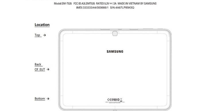 Samsung Galaxy Tab 4 na FCC