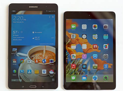 Samsung Galaxy TabPRO 8.4 vs iPad mini