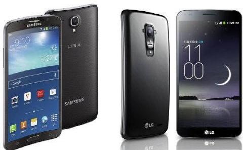 Samsung Galaxy Round i LG G Flex