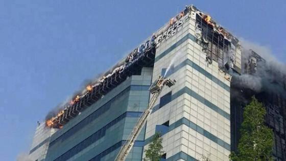 pożar w Samsung SDS