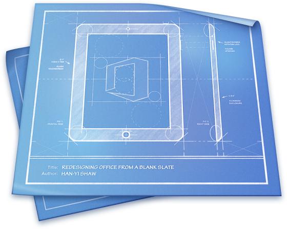 Office na iPada - design