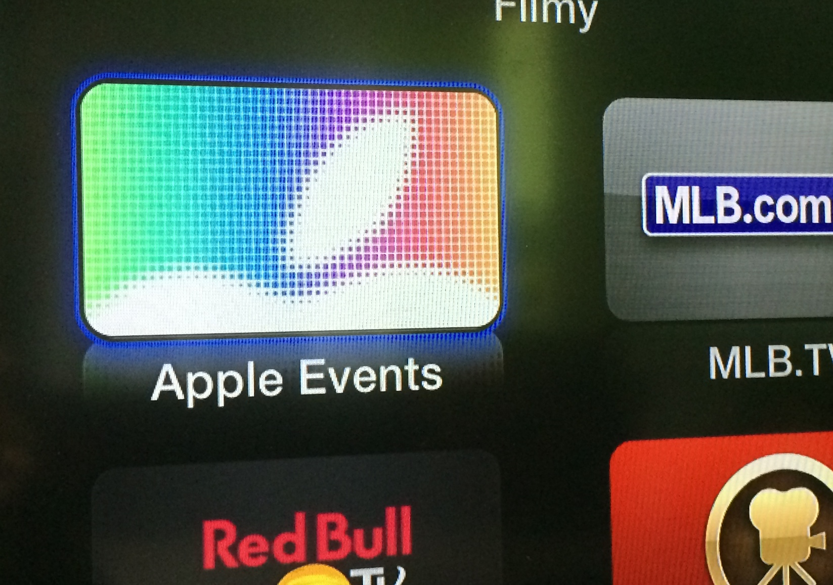 Apple Events na Apple TV