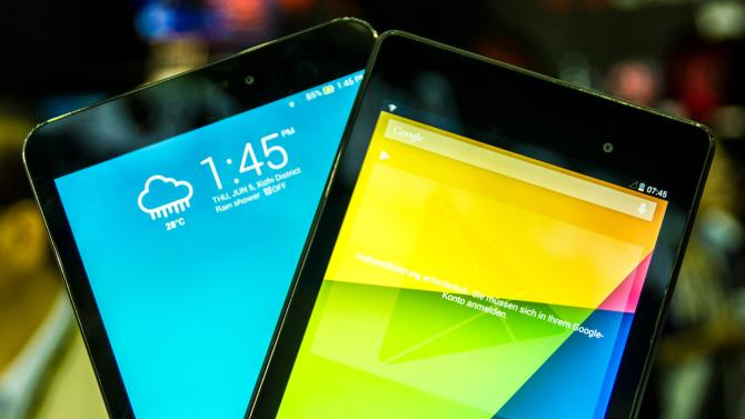 ASUS MeMO Pad 8 (ME581CL) vs Google Nexus 7