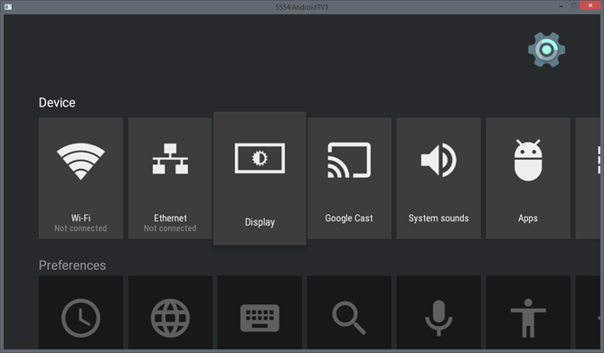 emulator Android TV