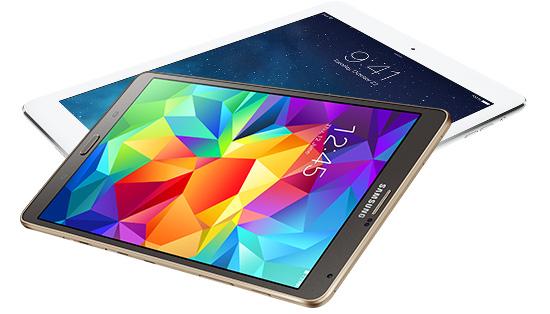 iPad Air i Samsung Galaxy Tab S