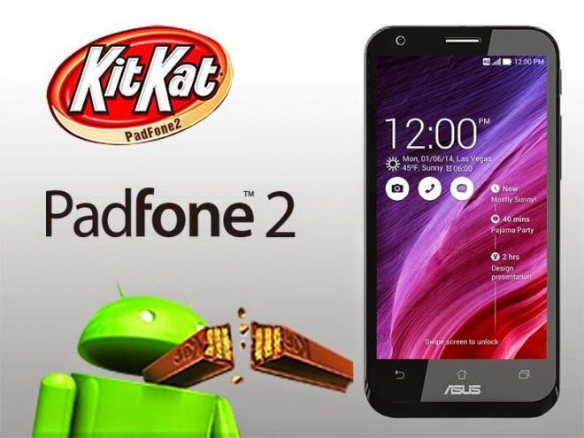 ASUS PadFone 2 z KitKat