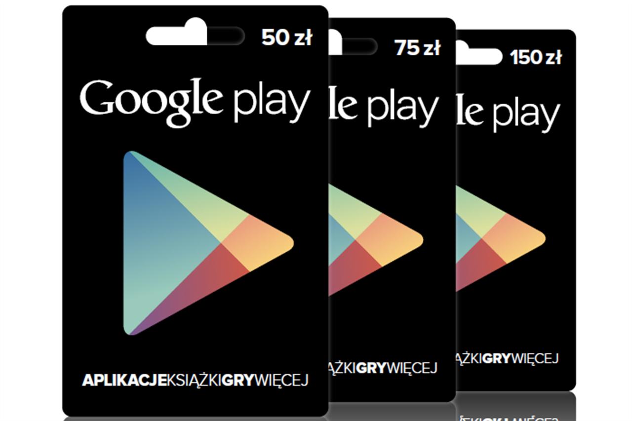 Karty podarunkowe Google Play