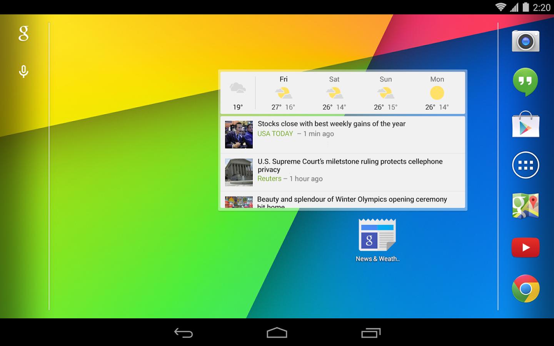 Google News & Weather app