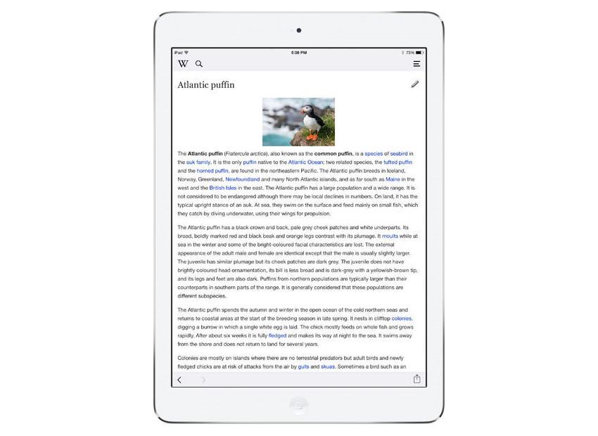Wikipedia na tablety