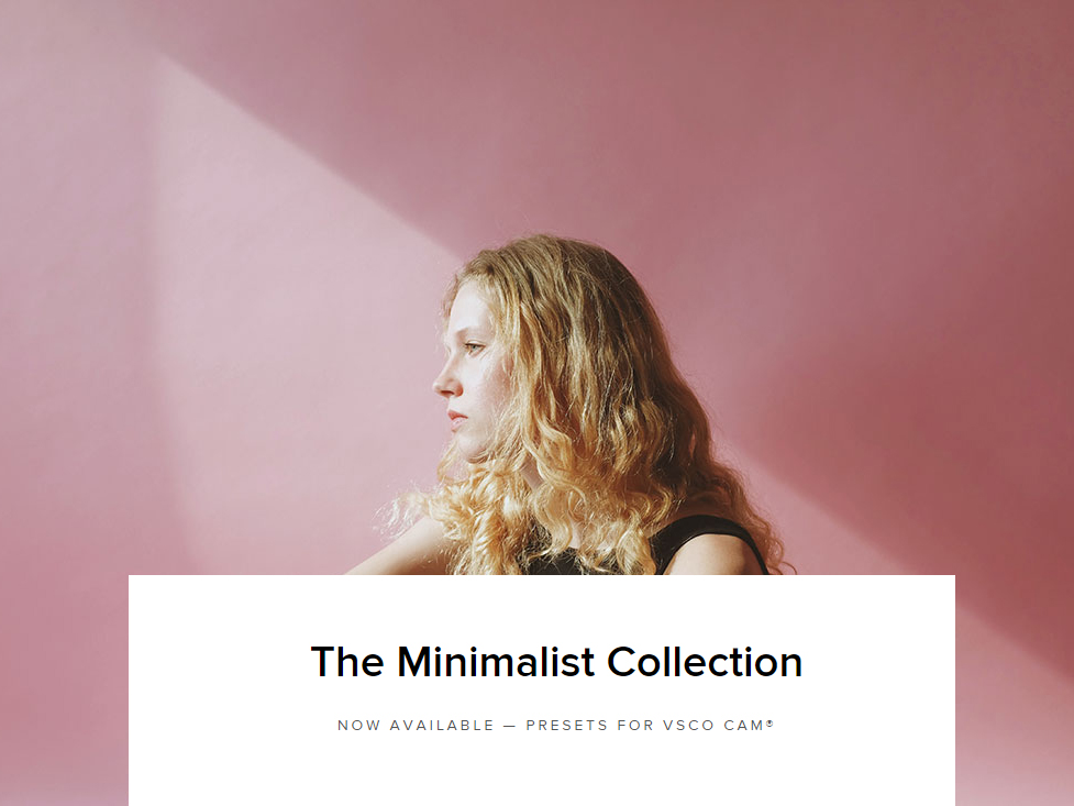 VSCO minimalist collection